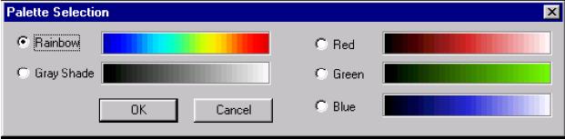 Optical Grating - Palette Selection dialog box