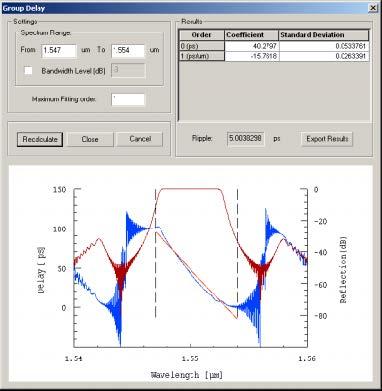 Optical Grating - Group Delay