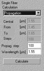 Optical Grating - Input View window