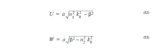 Optical Fiber - equation 52-53