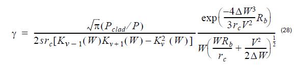 Optical Fiber - equation 28