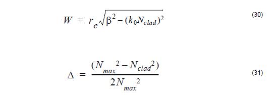 Optical Fiber - equation 30-31