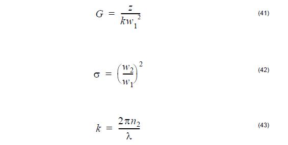 Optical Fiber - equation 41-43