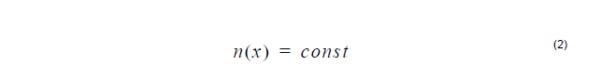 Optical Fiber - Constant profile equation