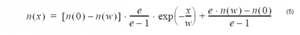 Optical Fiber - Exponential profile equation