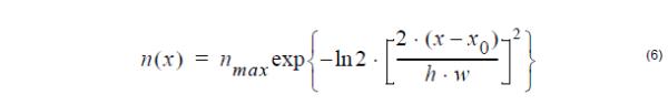 Optical Fiber - Gaussian profile equation