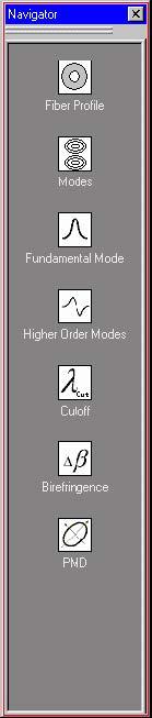Optical Fiber - Navigator pane