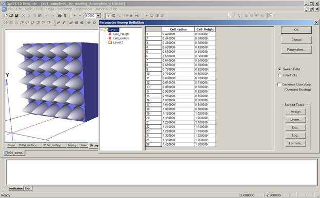 Parameter Sweep In FDTD Simulation