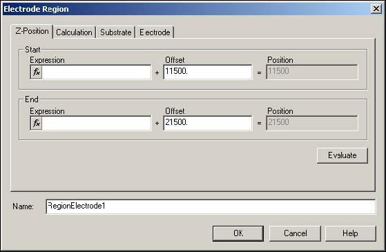 BPM - Figure 8 Electrode Region dialog box