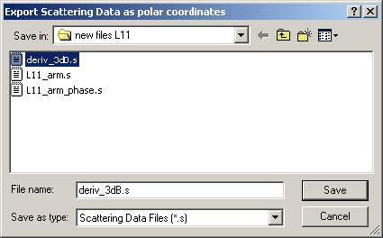 BPM - Figure 10 Export Scattering Data dialog box