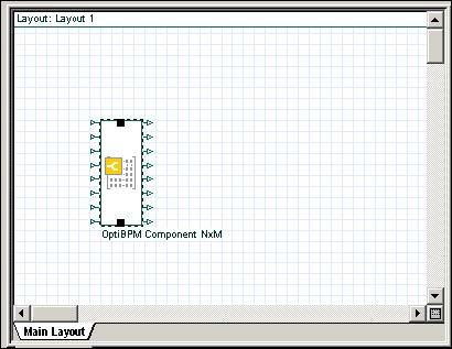 BPM -  Figure 13 OptiBPM Component NxM