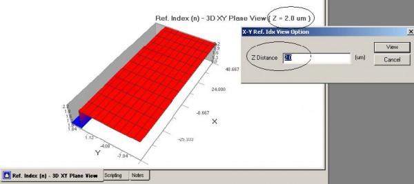 BPM - Figure 7 Refractive Index profile