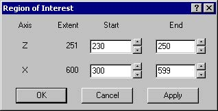 BPM - Figure 8 Region of Interest dialog box
