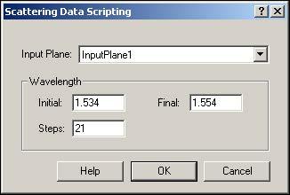 BPM - Figure 6 Scattering Data Scripting dialog box