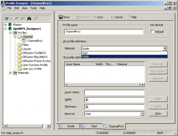 BPM - Figure 3 2D profile definition material—Guide