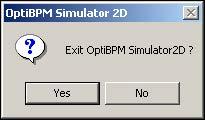 BPM - Figure 21 Exit simulator dialog box