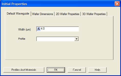 BPM - Figure 1 Initial Properties dialog box