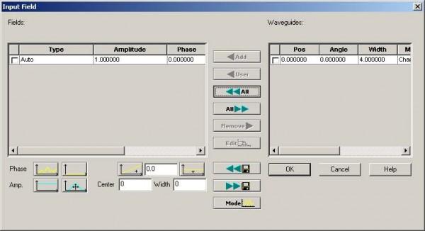 BPM - Figure 10 Input Field dialog box—move waveguide