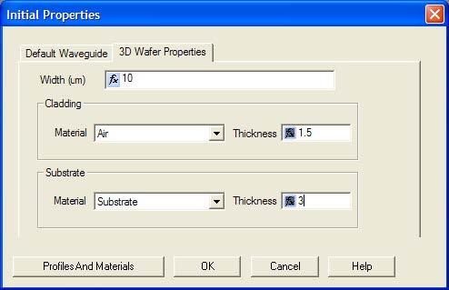 BPM - Figure 4 Selecting 3D Wafer Properties
